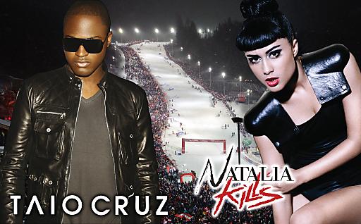 Die Superstars Taio Cruz und Natalia Kills werden das Zielstadion zum Kochen bringen.