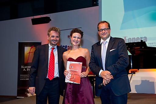 Von links nach rechts: Prof. Johannes Meissl (ISA), Susanne Großsteiner, Mag. Dietmar Kerschbaum (J:opera).