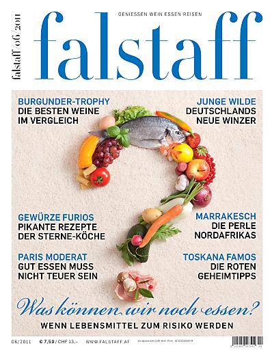 Cover Falstaff 06/11: Gefährlicher Genuss; Die Würze des Lebens; Die Macht des Sommeliers