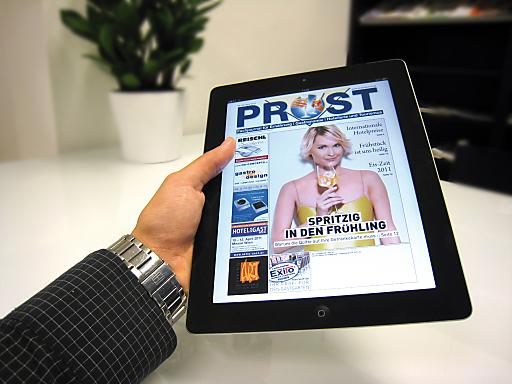 Die neue PROST-App verfügt über ein Archiv, das zum Stöbern einlädt.