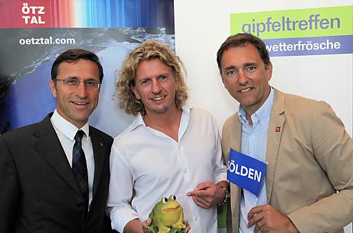 Freuen sich auf den Wettergipfel 2011 (v.l.): Josef Margreiter (Direktor Tirol Werbung), Thomas Weninger (GF pro.media kommunikation), Oliver Schwarz (Direktor Ötztal Tourismus).