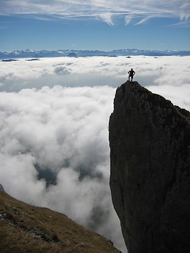 Das Siegerbild des Fotowettbewerbes der Alpinen Gastgeber, aufgenommen bei einer Bergtour im Wilden Kaiser