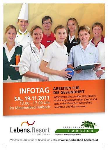 """Infotag """"Arbeiten für die Gesundheit"""" am 19.11.2011 im Moorheilbad Harbach"""
