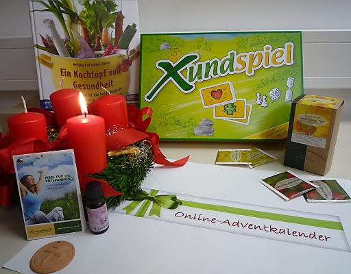 Einige der Produkte, die es beim Xundheitswelt-Online-Adventkalender zu gewinnen gibt