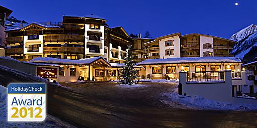 Gletscherhotel Klausnerhof in Hintertux wird mit dem HolidayCheck Award 2012 ausgezeichnet.