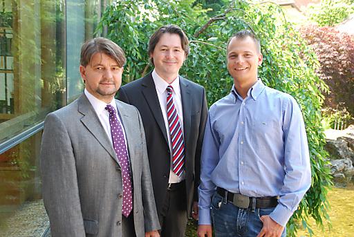 Von links: Erwin Paierl (Inhaber), Günther Treiber (Geschäftsführer), Dominique Paierl (Sohn von Erwin Paierl).