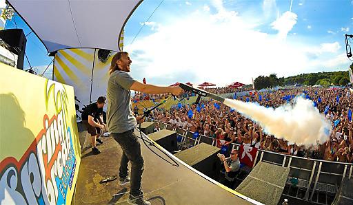 SBE David Guetta: DJ-Superstar David Guetta sorgte im letzten Jahr für ordentlich Stimmung.