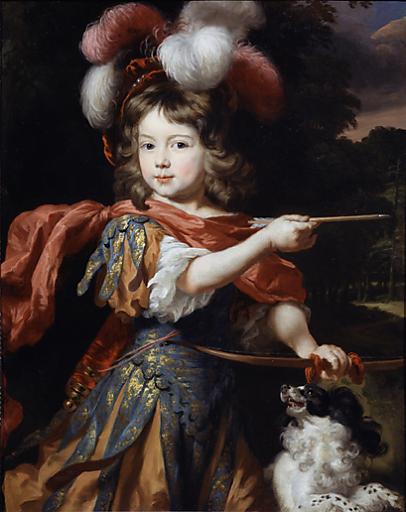 """Nicolaes Maes, """"Porträt eines Jungen als Adonis"""", gegen 1670."""