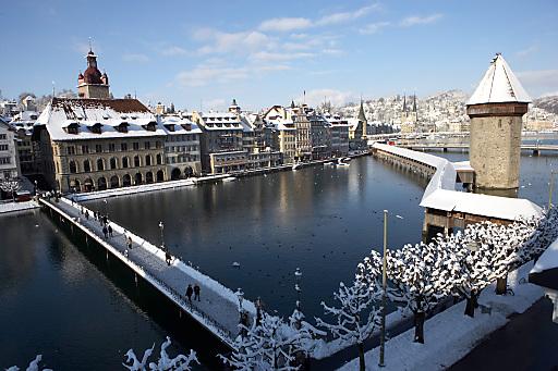 Luzern im Winter.