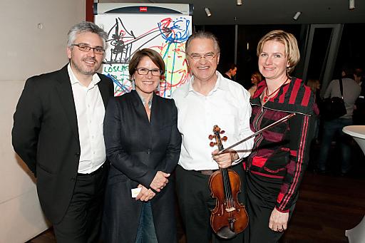 CCC bei WEIN & CO: Oliver Sartena, Monika Kriwan(beide WEIN & CO), Miha Pogacnik und Karin Krobath (IDENTITÄTER) von li. n. re.
