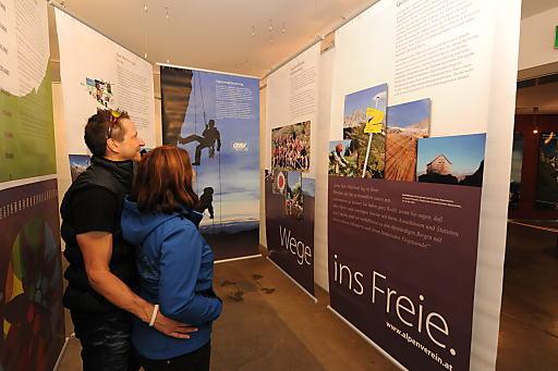 Wanderausstellung 150 Jahre Österreichischer Alpenverein auf der Kaiser Franz Josefs Höhe