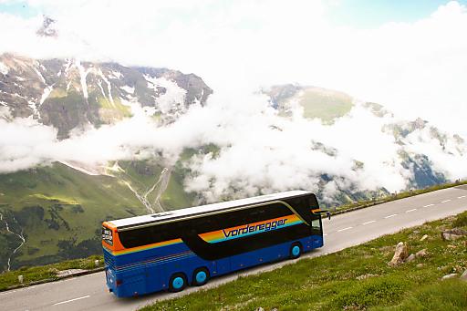 Präsentation des neuen Glocknerbus auf der Grossglockner Hochalpenstraße
