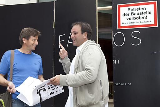 Das neue Fabios: Fabio Giacobello und Joachim Gradwohl (links im Bild) schmieden Pläne.