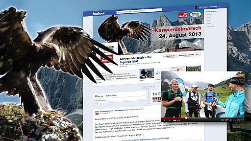 Karwendelmarsch Facebook-Seite und Video