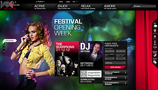 Screenshot Website Ischgl.com
