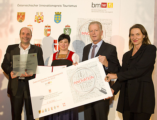 Österreichischer Innovationspreis Tourismus 2012, Verleihung am 28.11.2012 an Metzler Käse-Molke GmbH, Vorarlberg