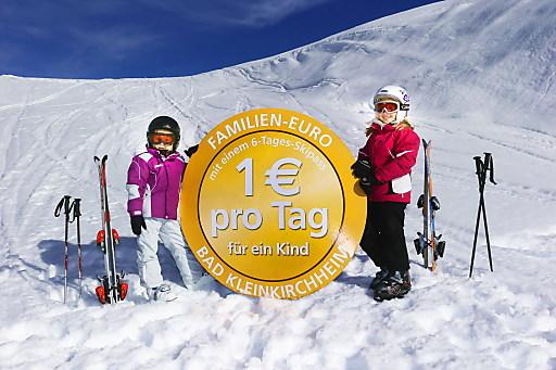 Eine Woche Familien-Skifahren um Euro 430 - das gibt's nur in Bad Kleinkirchheim.