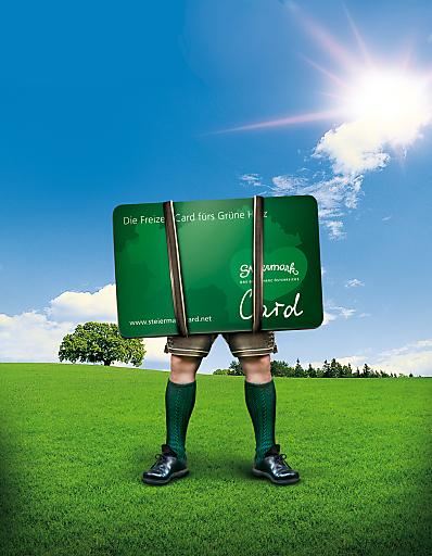 Mit der Steiermark-Card 2013 schenken Sie 99 Ausflugsziele. Die Türen der teilnehmenden Ausflugsziele stehen Card-Besitzern von 1. April bis 31. Oktober bei freiem Eintritt offen. Näheres auf www.steiermark-card.net