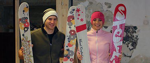 """Bau dir deine """"Brettln"""" selbst. Die Innsbrucker Firma SPURart macht Lust auf individuelle Ski und Snowboards."""
