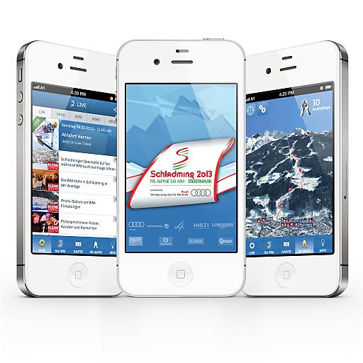 Die offizielle App der Ski WM Schladming 2013 (iphone)