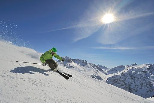 Firnskifahren in Lech Zürs am Arlberg
