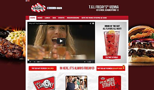 T.G.I. Friday's Vienna ist jetzt online für alle da!