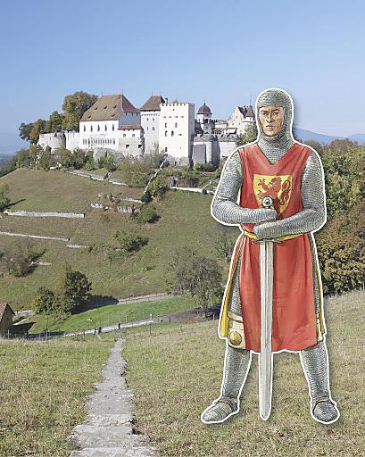 Ritter vor Schloss Lenzburg
