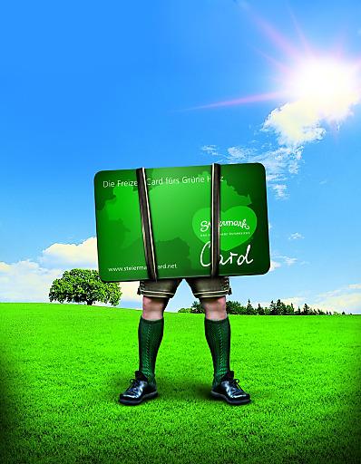Die Steiermark-Card gewinnt. Gleich zwei Preise konnte die Werbekampagne der Steiermark-Card kürzlich erzielen. Den Green Panther in Bronze und den TAI Werbe Grand Prix 2013 Signum Laudis in Silber.
