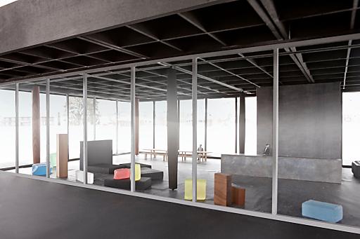 BU: Zeitgenössisches Bregenzerwälder Handwerk zeigt das neue Werkraum Haus in Andelsbuch.