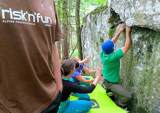 Bouldereinheit bei risk'n'fun KLETTERN am Peilstein.