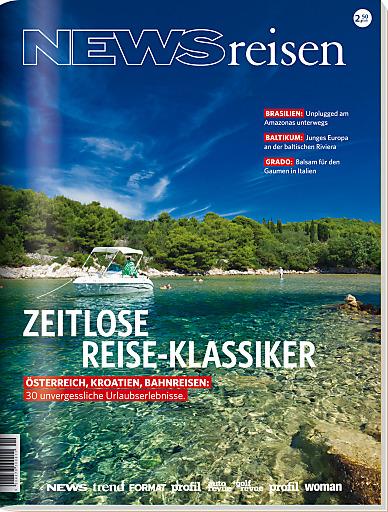 NEWSreisen, der 'Magalog' mit Vertriebserfolg für Tourismusbetriebe und Reiseveranstalter, steigert im Herbst seine Auflage um zusätzlich 45.000 Stück auf 275.000 Stück. Und das Ganze im österreichweiten Einzelhandel als Bundle mit dem Magazin NEWS am 26. September.