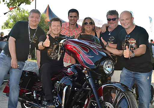 (v.l.): Sven Kielgas (Veranstalter European Bike Week), Tourismusreferent Dr. Wolfgang Waldner, GF Region Villach Thomas Michor, Alison Povey (Eventmanagerin Harley-Davidson), Nigel Villiers (Direktor Harley Owners Group), Kärnten Werbung GF Christian Kresse.