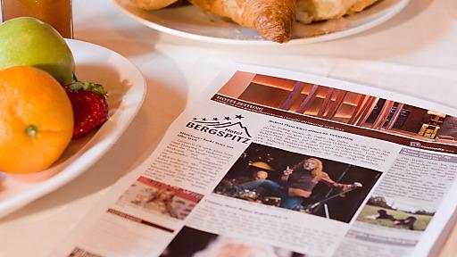 Die Inhalte lassen sich von den Hotelmitarbeitern schnell zu einem interessanten Printprodukt für den Gast zusammenstellen.