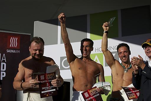 Weltmeister Dirk van Offel aus Belgien (in der Mitte)