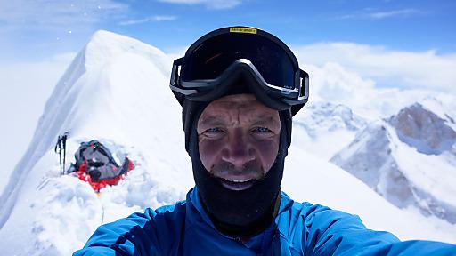 Markus Amon am Gipfel des Manaslu 8.163m