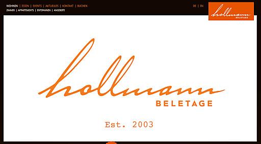 Neue Website Hollmann Beletage