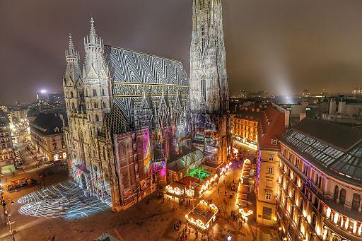 fulminante er ffnung des weihnachtsmarkt am stephansplatz. Black Bedroom Furniture Sets. Home Design Ideas