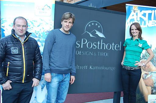 Matthias Wildauer, Clemens Fritz und Christina Egger-Binder im dasPosthotel