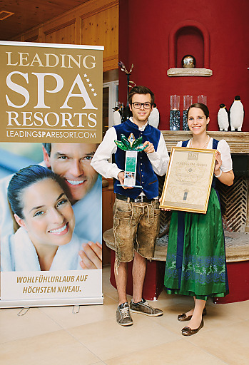 Leading Spa Award Gewinner 2013, Wellnessresort Dilly, Christoph Dilly mit Freundin Martina