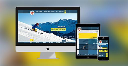 Der neue Webauftritt der Skischule Arosa auf www.skischule-arosa.ch wurde von Waldhart Software als full responsive site konzipiert. Dadurch passt sich die Website automatisch jenem Endgerät an, auf welchem sie dargestellt werden soll.