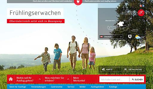 Das Internet ist längst die wichtigste Informationsquelle für die Ausflugsplanung. Mit dem Relaunch der Online-Plattform www.ausflugstipps.at können sich die Gäste perfekt über die Angebote in Oberösterreich informieren.