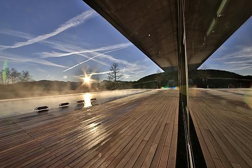Lanserhof Tegernsee - Sonnenaufgang am Pool