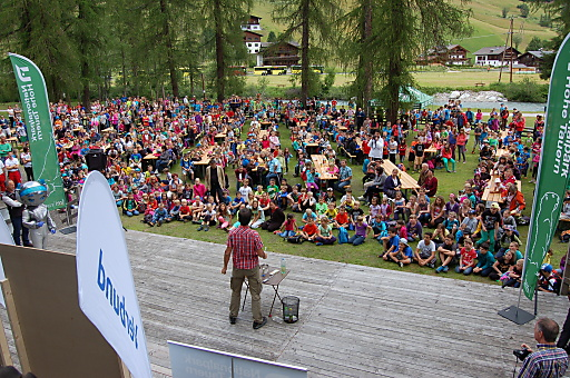 Über 1.100 Schüler beim VERBUND Klimaschulfest 2014.