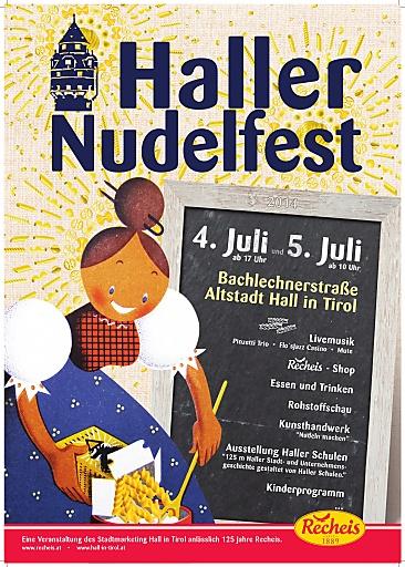 Plakat zum Haller Nudelfest