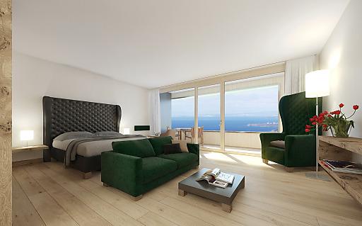 Zimmer mit Bodensee- und Bergblick eröffnen Urlaub im Kopf