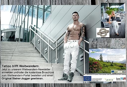 Broschüre bestellen und Original Steirer-Jogger gewinnen