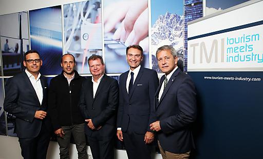 v.l.: Harald Gohm (Standortagentur Tirol), Michael Bacher (Neuschnee GmbH), Dietmar Kilian (PDAgroup), Peter Mirski (MCI) und Markus Tschoner (Olympiaregion Seefeld).