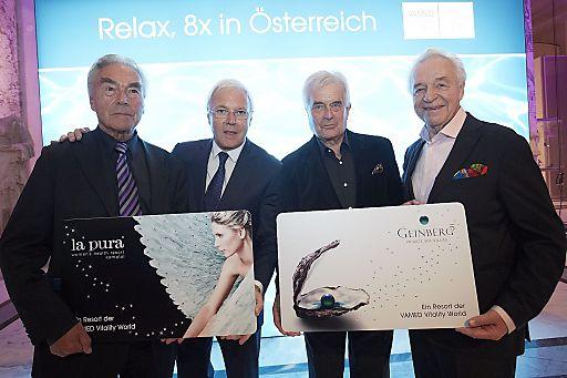 http://www.apa-fotoservice.at/galerie/5997 Im Bild v.l.n.re.: Präsident Beppo Mauhart, Direktor Gerhard Gucher/VAMED Vitality World, Intendant Prof. Frank Hofmann, Intendant Prof. Harald Serafin.