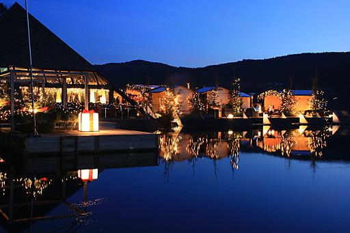 Stimmungsvoller Logenplatz am Millstätter See: der schwimmende Christbaumwald am Kap 4613