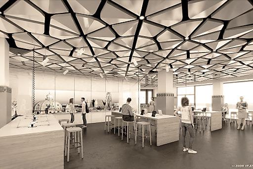 Neue Business Lounge im Austria Center Vienna -Rendering